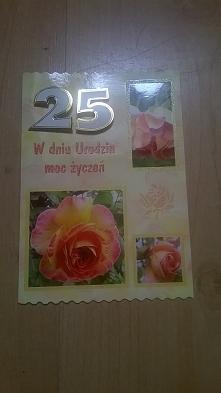 Kartka na 25te urodziny, srebrne urodziny, 2014 nr 10.
