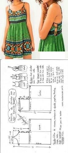 Sukieneczka boho + wykrój