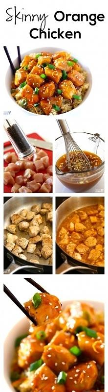 Pomarańczowy sos z kurczaka Składniki: 3 ząbki czosnku, mięsa mielonego 1/2 s...