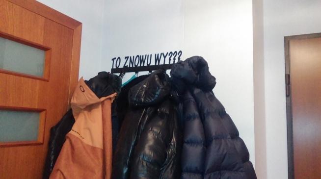 To znowu wy??? - wieszak na ubrania - art-steel.pl