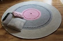 Dywan ze sznurka bawełnianego, ręcznie robiony, 200 cm średnicy AŻUROWY