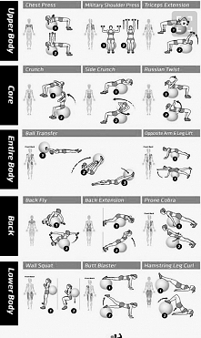 trening całego ciała z piłka .