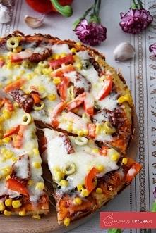 Pizza z patelni z suszonymi pomidorami, kaparami ;)