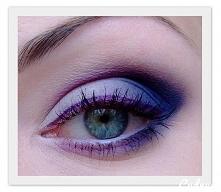 Fioletowy makijaż :)