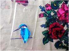 <3 Etui z kolorowym ptaszkiem dostępne jest na wiele modeli: Huawei, Samsu...