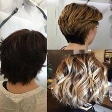 Kolor uzyskany podczas dwóch wizyt w trakcie dwóch miesięcy.Włosy na blond i ...