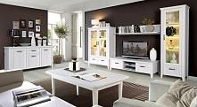 MEBLE FORTE   zestaw mebli do salonu, białe meble nowoczesny styl