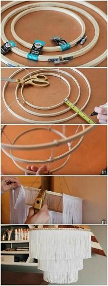 Żyrandol DIY