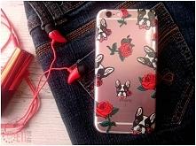 """Etui z naszej autorskiej kolekcji """"Fashion Style"""" - wzór Puppy Love <3 Etui na wiele modeli telefonów stacjonarni i online :)"""