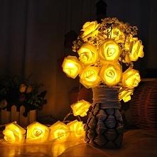 Świecące róże LED - fajna dekoracja do waszego domu. Ekotechnik24.pl