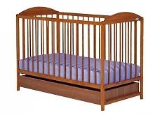 Drewniane regulowane łóżeczko dla niemowląt