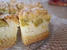 kruche ciasto z rabarbarem i kaszą manną :)