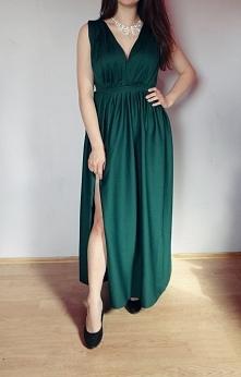 Sukienke w kolorze butelkowej zieleni uszyłam na wzór sukienek które można ku...