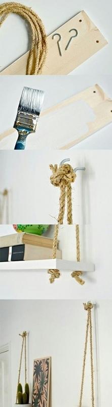 DIY- wisząca półka