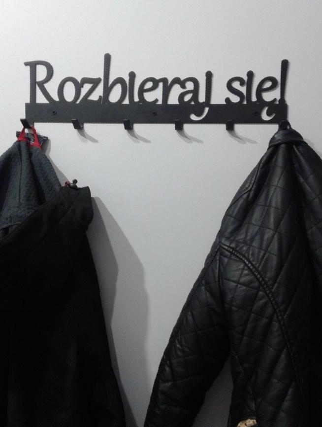 Rozbieraj się! - wieszak na ubrania - art-steel.pl