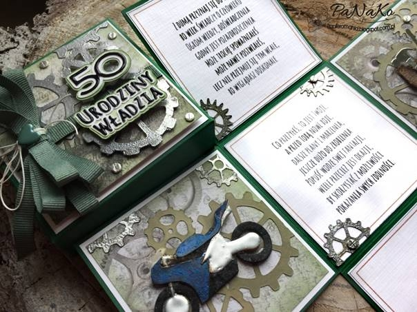 męska kartka na 50 urodziny - handmade