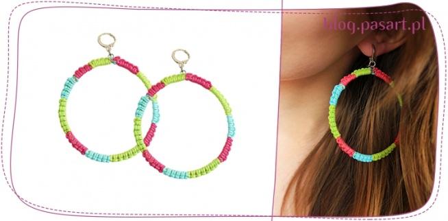 Modne kolorowe kolczyki - prosty kurs DIY - zrob je sama :)!