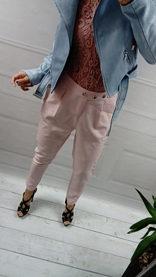 Spodnie pudrowy róż S/M/L 7...
