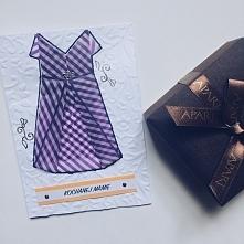Kartka DIY na Dzień Mamy z wykorzystaniem sukienki origami