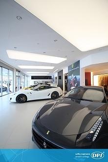 Kolejne zdjęcie realizacji DPS w salonie Ferrari w Katowicach. Mierzymy wysok...
