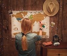Zdrapywalna mapa świata <3