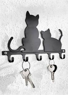 Koci wieszak na klucze <3