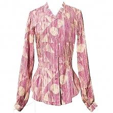 Koszula drapowana we wzór, dostępna w butiku Łatka fashion.