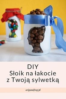 Idealny na prezent zrób to sam :) DIY Słoik na łakocie z Twoją sylwetką Na bl...