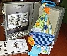 Prezent pudełko na skarby chrzciny.