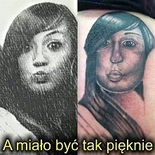 śmieszne tatuaże kobiety