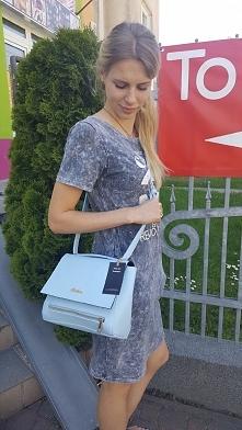 torebka listonosza damska błękit Fb/ Atelier Torebek wysyłka 24h