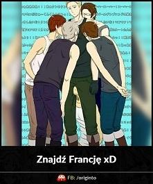 Znajdź Francję xD  Memy z anime, sklep otaku, kawaii koszulki, nauka japoński...
