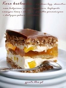 Składniki:(na formę 24x32 cm z wysokim brzegiem)  Ciasto orzechowe:  8 białe...