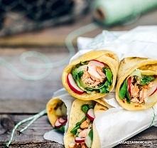 Łososiowe wrapy piknikowe  Lekkie, smaczne i szybkie. Wrapy idealne na piknik...