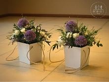 flower boxy wręczane rodzicom w trakcie podziękowań