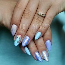Blue Tide Neonail, Tiger Lily neonail, canni 592, pixel effect indigo + ręczn...