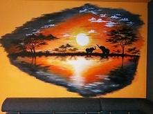 akrylami na ścianie, moje :)