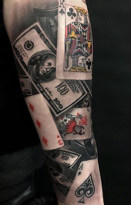 Karty I Pieniądze Na Ciekawe Tatuaże Zszywkapl