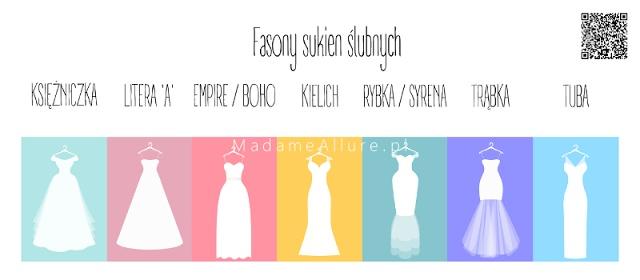 Fasony sukien ślubnych - darmowy przewodnik z notatnikiem dla panny młodej do pobrania na blogu - kliknij i sprawdź! :)
