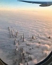 Widok z samolotu - Dubaj.