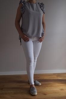 Stylówka szaro- biała
