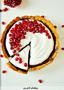 Razowa tarta z czekoladą i kokosowo - waniliowym kremem (bez cukru, bez mleka...