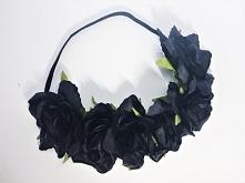 czarne kwiaty na gumce więcej: fb: sarenka vinted: siarczi