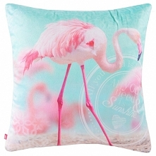 Poszewka na poduszkę Balbin uszyta z tkaniny poliestrowej przepięknie zdobion...
