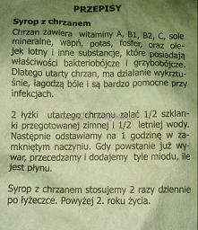 Syrop z chrzanem.