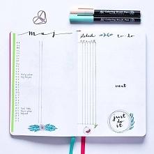 Rozkładówka miesięczna Monthly log Bullet journal