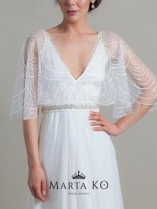 pas do sukni ślubnej od Marta KO Bridal Design