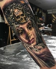 Tattoo Apocalypse sleeve death skull