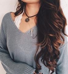 Brown hair..