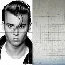 Witam, próbuję namalować Johnny'ego Depp'a na przystanku w mojej mi...